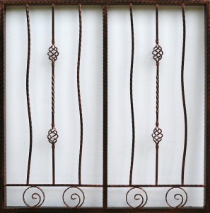 Wrought Iron Grille WG15